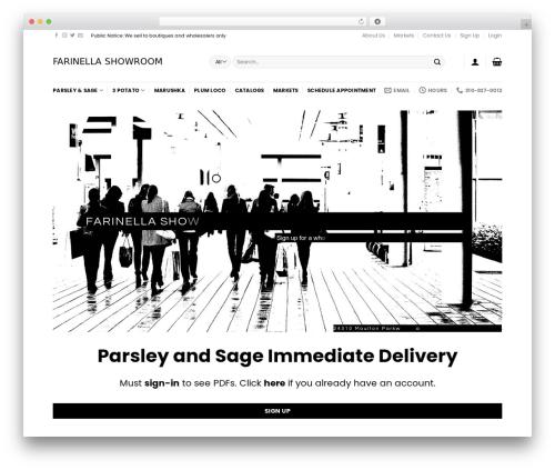 Flatsome WordPress shop theme - farinellashowroom.com