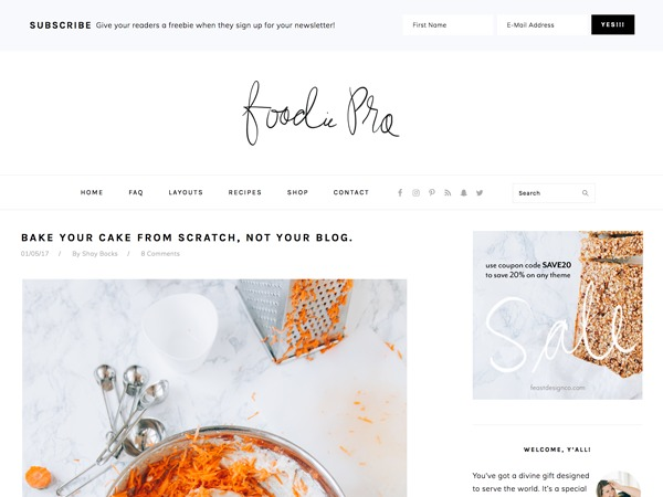 Foodie Pro Theme food WordPress theme