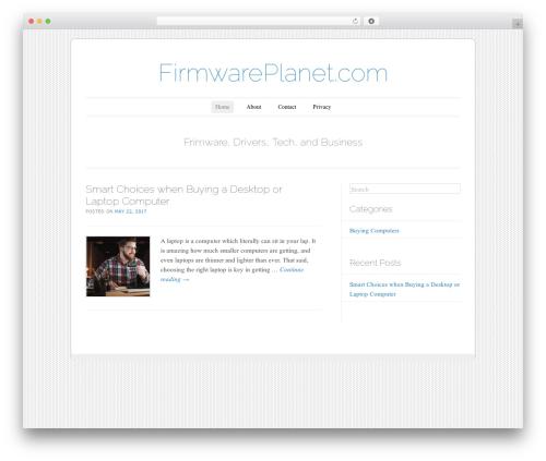 Forever company WordPress theme - firmwareplanet.com