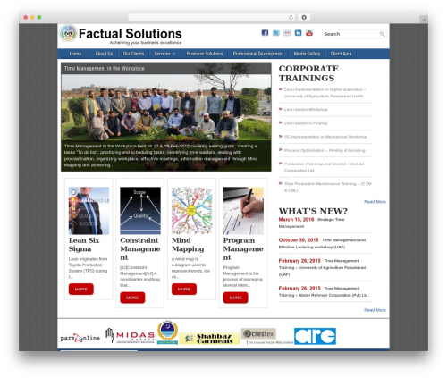 Frontier free WP theme - factual-solutions.com