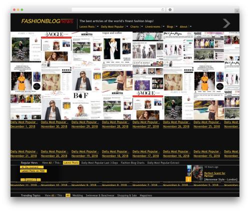 Fullscreen WordPress news template - fashionblognews.com