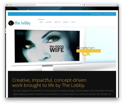 Genuine WordPress theme design - thelobby.tv
