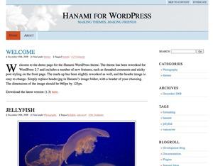 Hanami WP theme