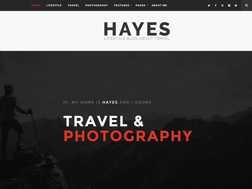 Hayes - Wordpress Theme WordPress blog template