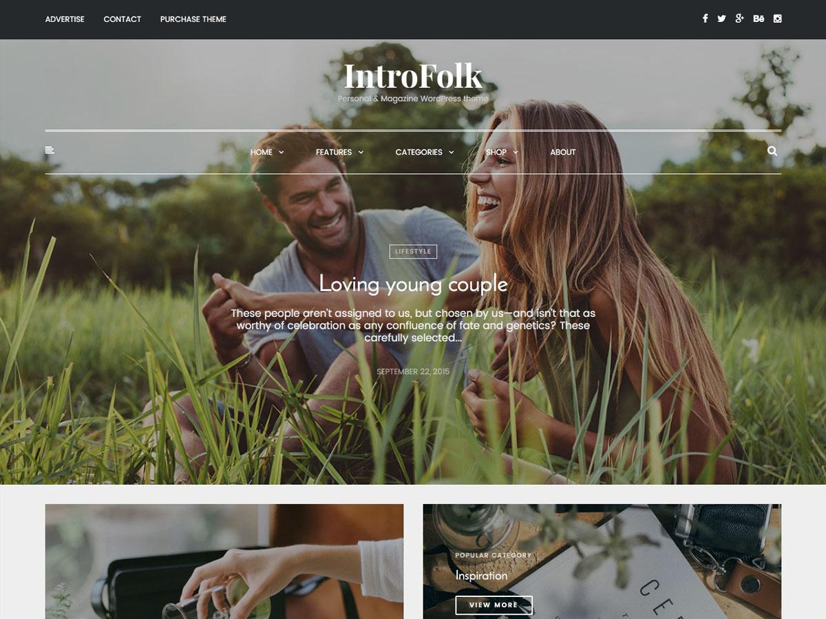IntroFolk WordPress blog template