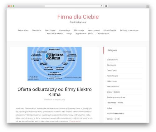 Match free WordPress theme - firmadlaciebie.com
