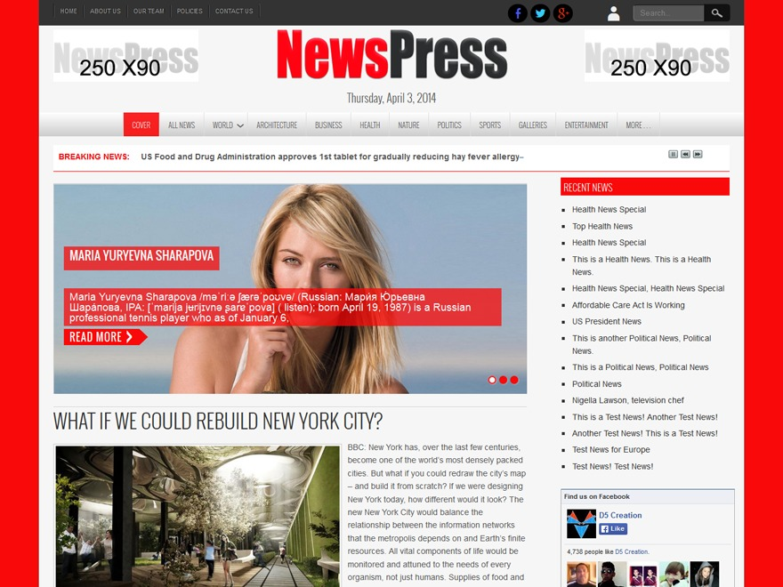 NewsPress Bangla WordPress news theme
