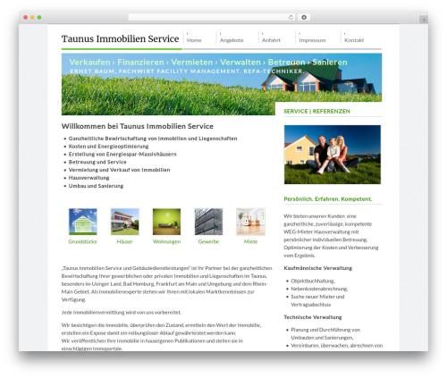 Pristine WordPress theme - taunusimmobilienservice.de