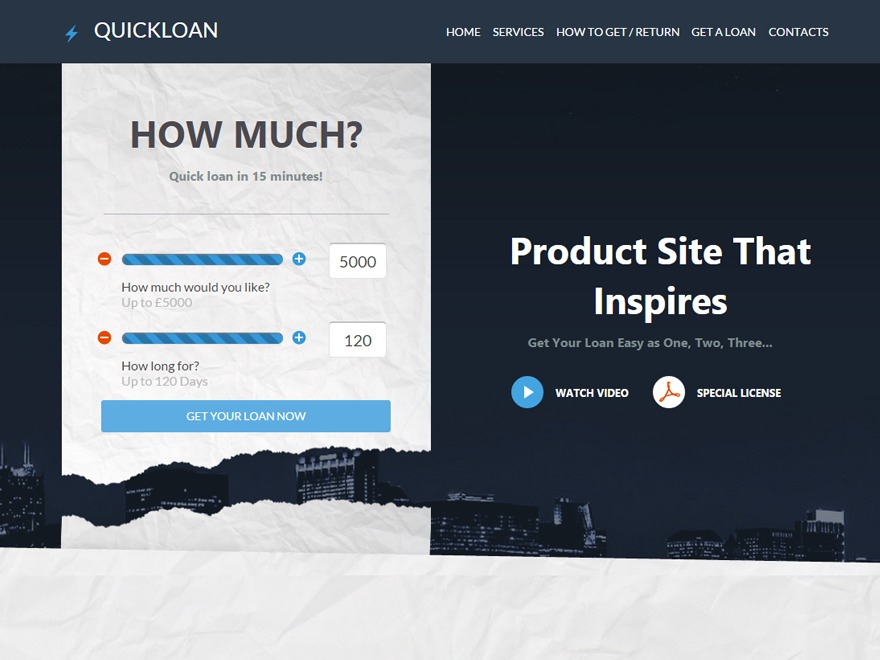 QuickLoans WP template