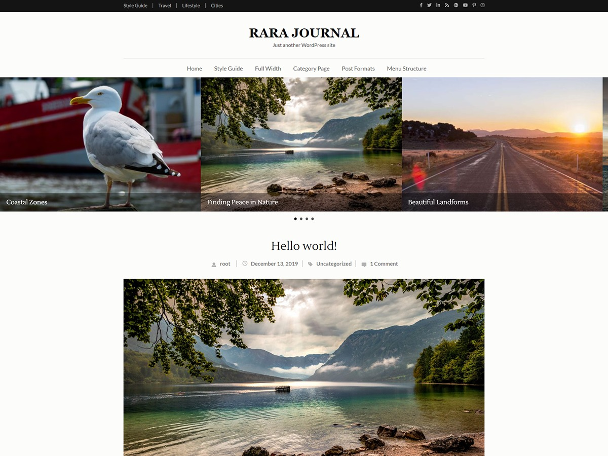 Rara Journal free WordPress theme
