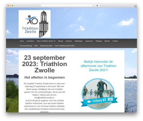 Responsive template WordPress free - triathlonzwolle.nl/triathlonzwolle