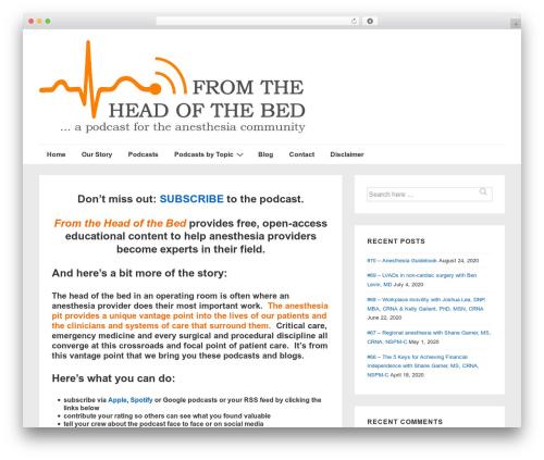 Responsive WordPress theme - fromtheheadofthebed.com