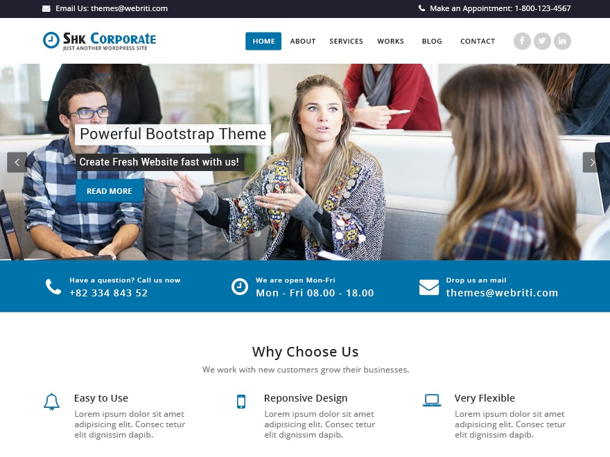 Shk Corporate WordPress free download