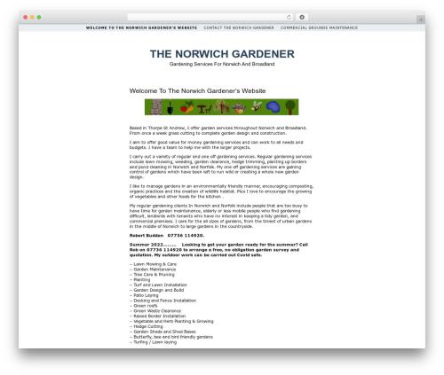 Simplr landscaping WordPress theme - thenorwichgardener.co.uk