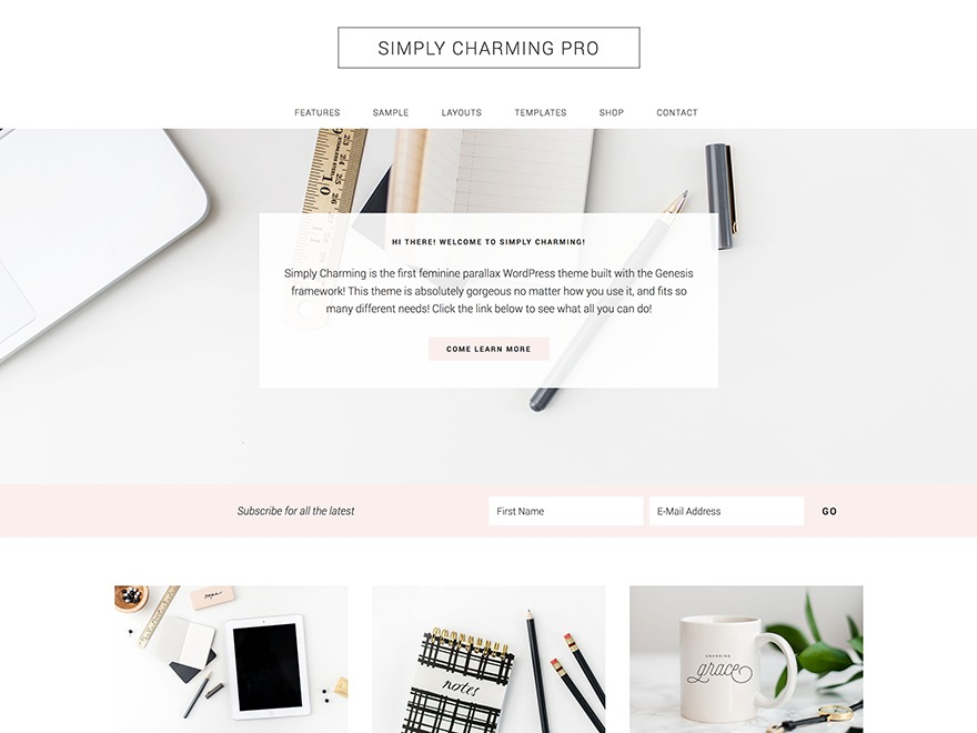 Simply Charming Pro Theme WordPress shop theme