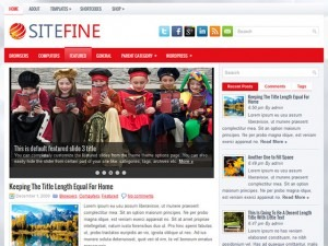 Sitefine WordPress blog template