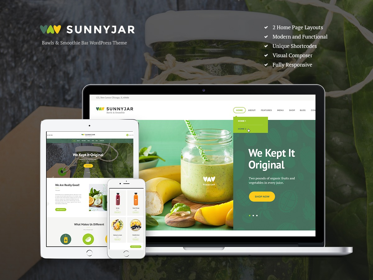 SUNNYJAR premium WordPress theme