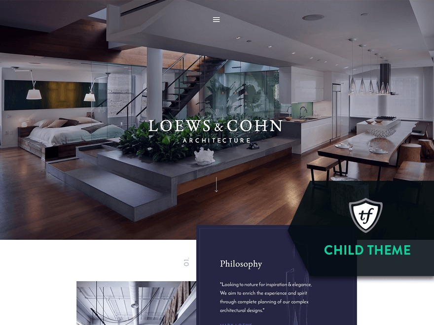 Theme WordPress Architekt Child