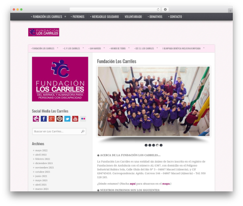 TruePixel top WordPress theme - fundacionloscarriles.com