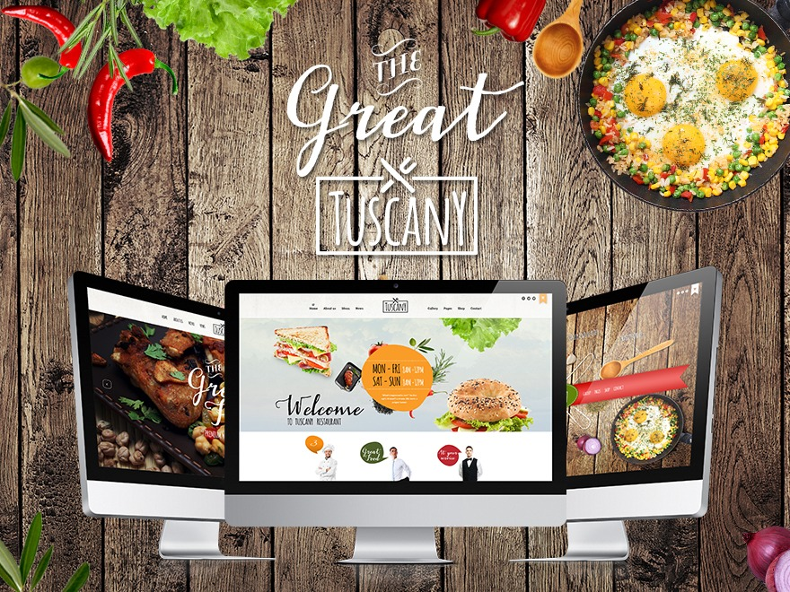 Tuscany - Restaurant Shop Creative WordPress Theme company WordPress theme