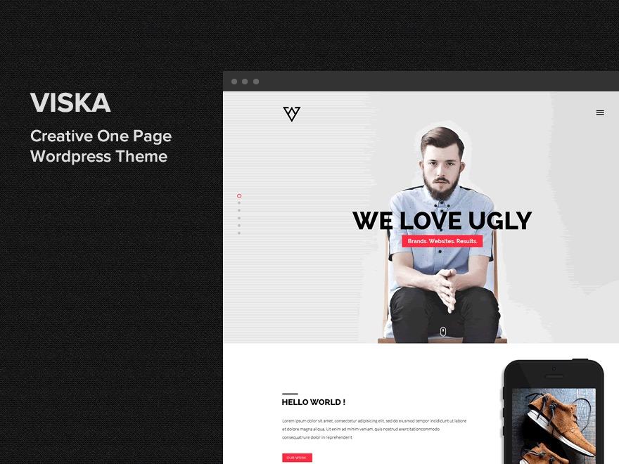 Viska WordPress portfolio template