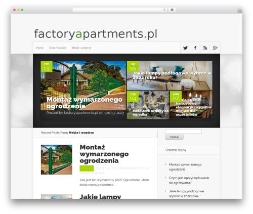 WordPress template Nexus - factoryapartments.pl