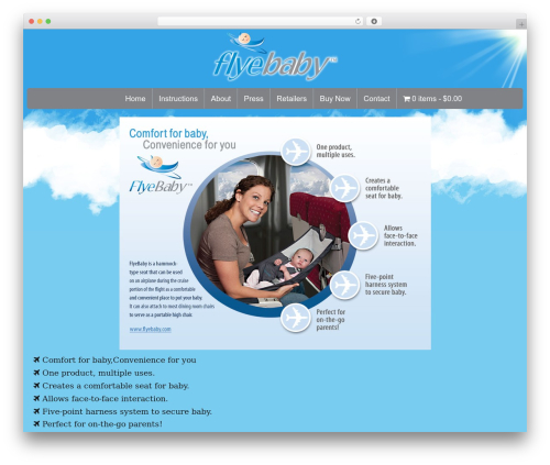 WordPress template Toolset Starter - flyebaby.com