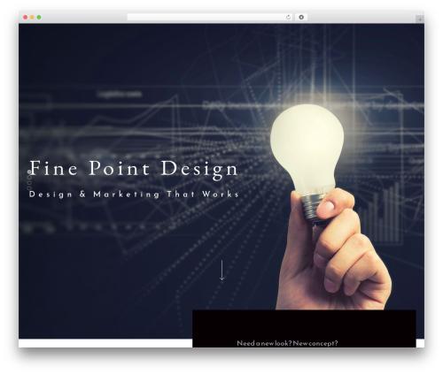 WordPress theme Architekt - finepointdesign.com