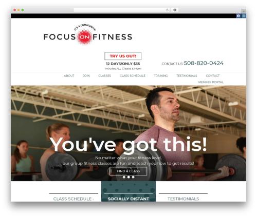 WordPress theme Genesis - fofhealthclub.com