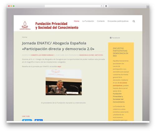 WordPress theme Lava - fundacionprivacidad.org