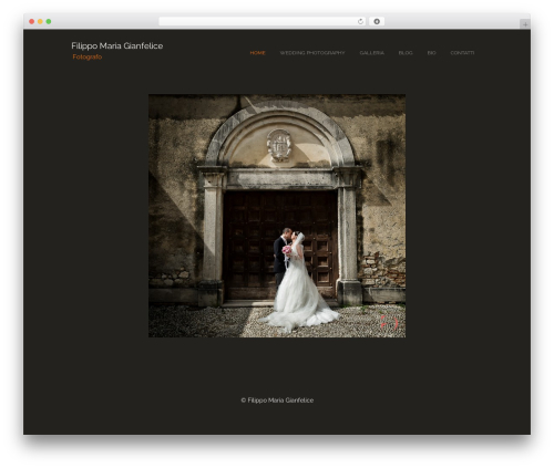 WordPress theme Photocrati Theme - filippomariagianfelice.it