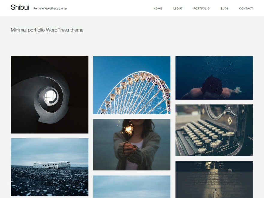 WordPress theme Shibui