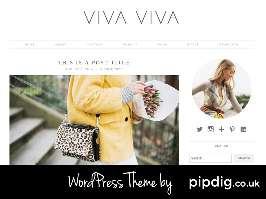 WordPress theme Viva Viva (pipdig)