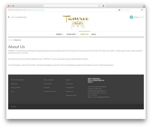 WP-Fitshop WordPress shop theme - tamree.in