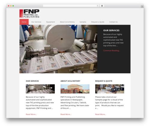 WP template Executive Pro Theme - fnpprintingandpublishing.com