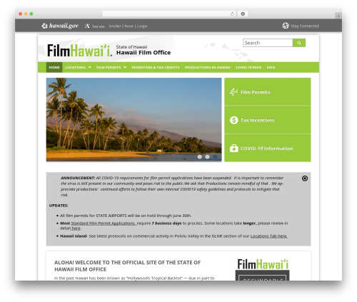 WP template State child Template - filmoffice.hawaii.gov