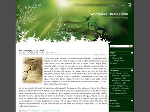 WP theme Green Light