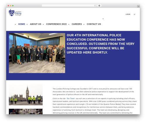 WPLMS theme WordPress - thelondonpolicingcollege.org.uk