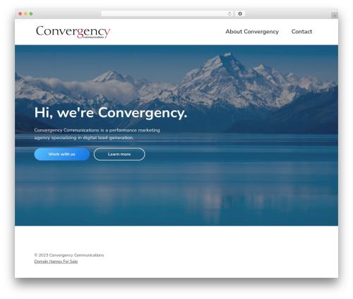 Best WordPress template Corporate Pro - convergency.com