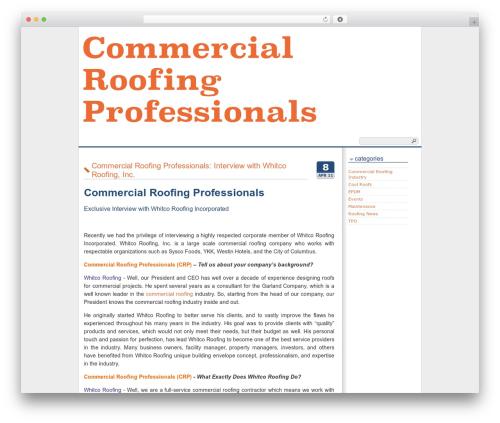 Best WordPress theme Cleanfrog - commercialroofingpro.com