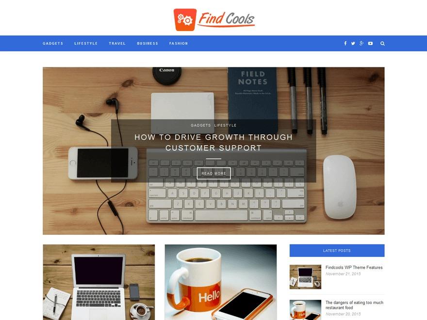 Findcools Child best WordPress template