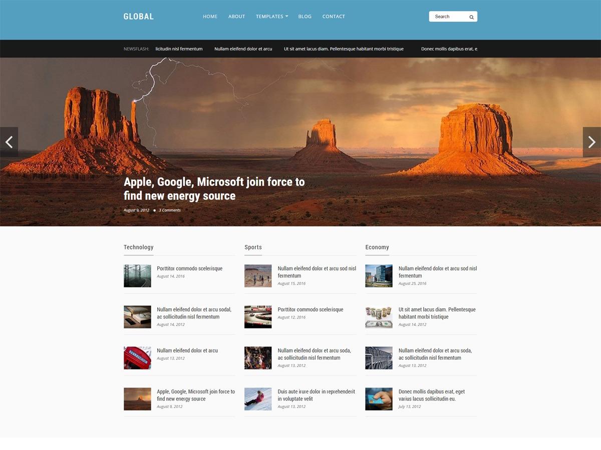 GlobalKT newspaper WordPress theme