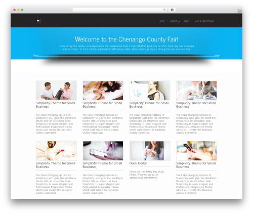 Simplicity Lite free WordPress theme - chenangocountyfair.org