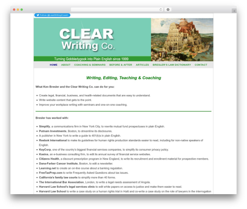WP theme Weaver II Pro - clearwriting.com