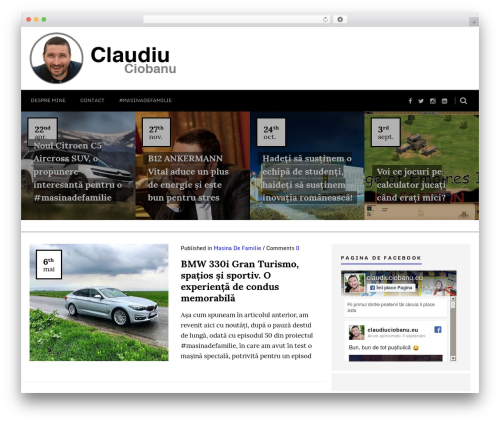 Best WordPress template Sense - claudiuciobanu.eu