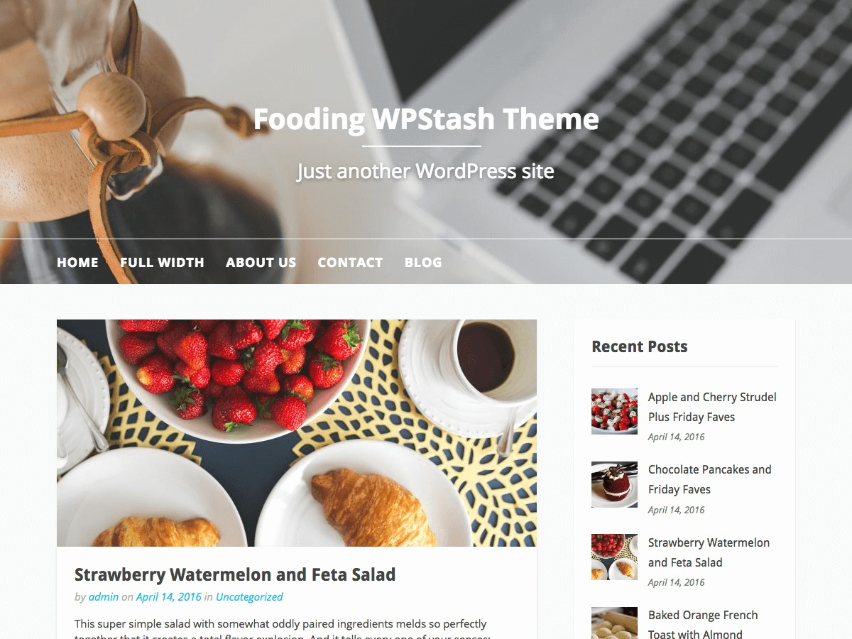 Costa del Este 2018 food WordPress theme