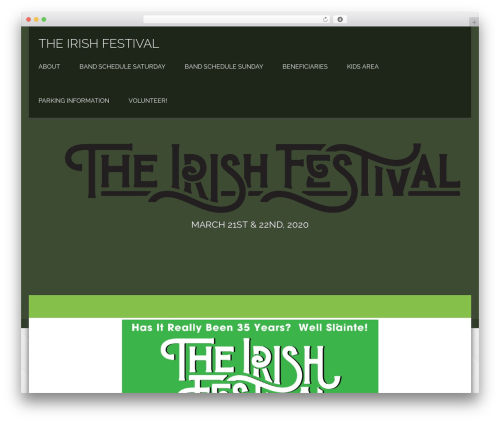 Honma WordPress template - churchhillirishfestival.com