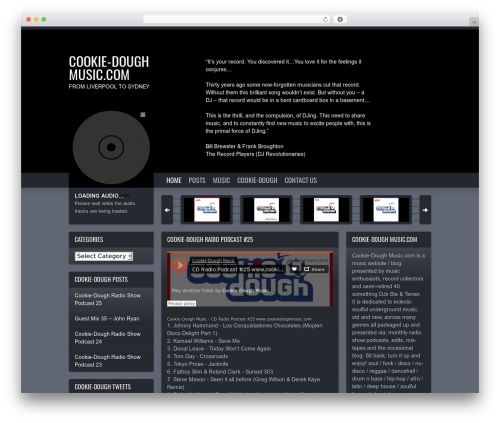 Soundcheck best WordPress theme - cookiedoughmusic.com