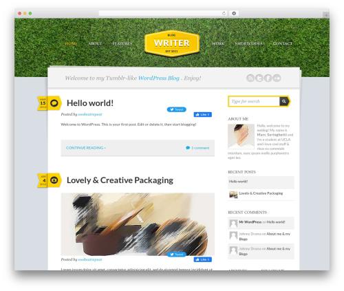 Theme WordPress Writer Child - cookeatrepeat.com