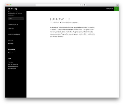 Twenty Fourteen WordPress theme design - codewolke.de